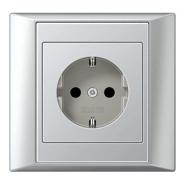 JUNG_Aplus_aluminium_aluminium_socket