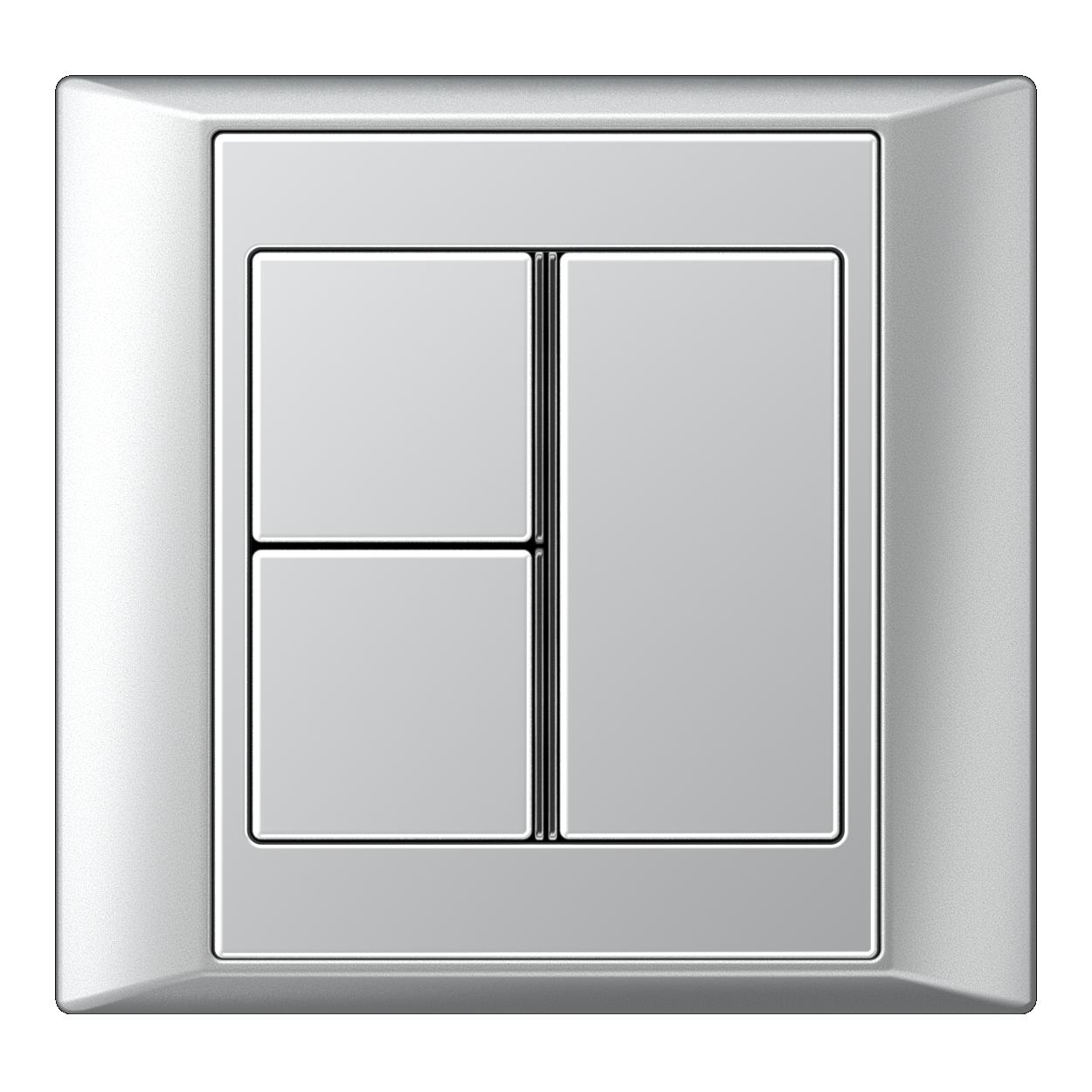 JUNG_Aplus_aluminium_aluminium_3button