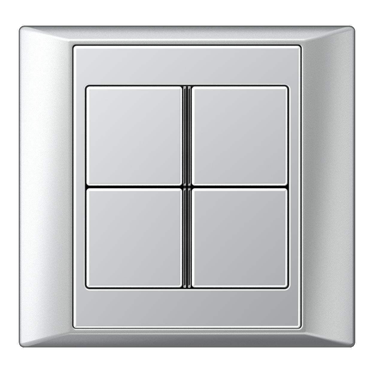 JUNG_Aplus_aluminium_aluminium_4button