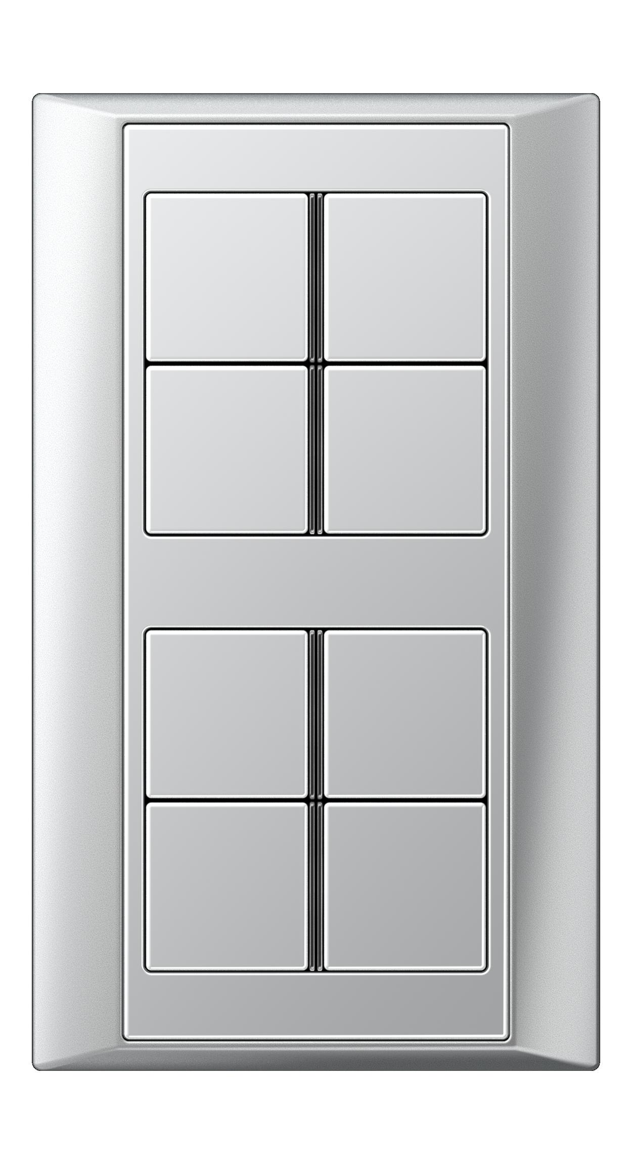 JUNG_Aplus_aluminium_aluminium_8button