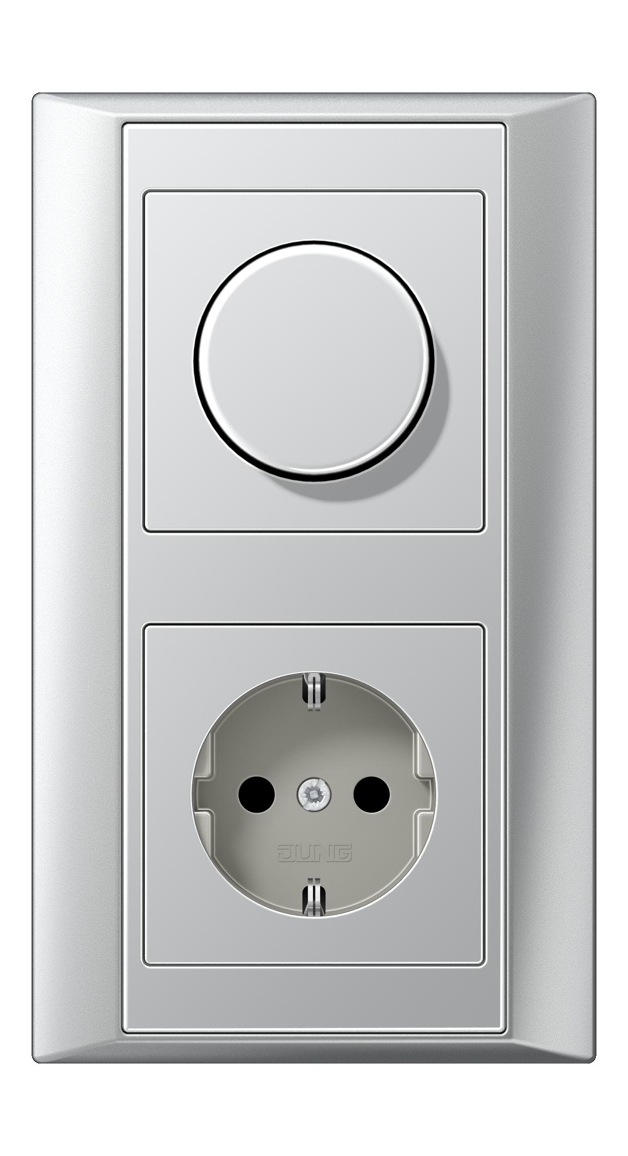 JUNG_Aplus_aluminium_aluminium_dimmer-socket