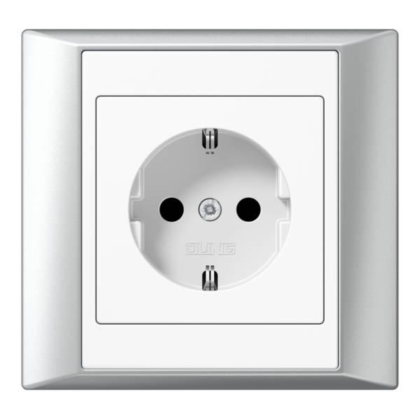 JUNG_Aplus_aluminium-white_socket
