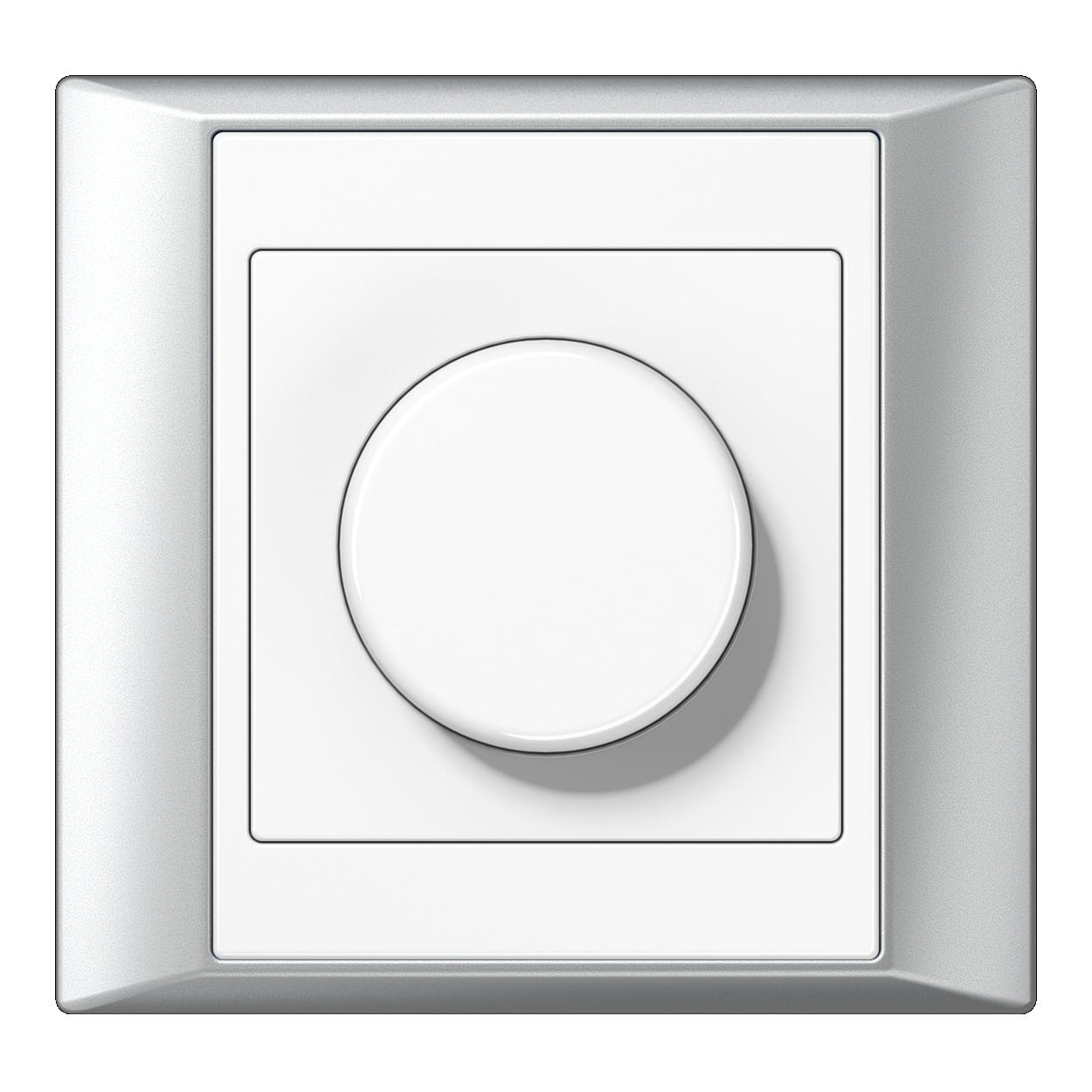 JUNG_Aplus_aluminium-white_dimmer