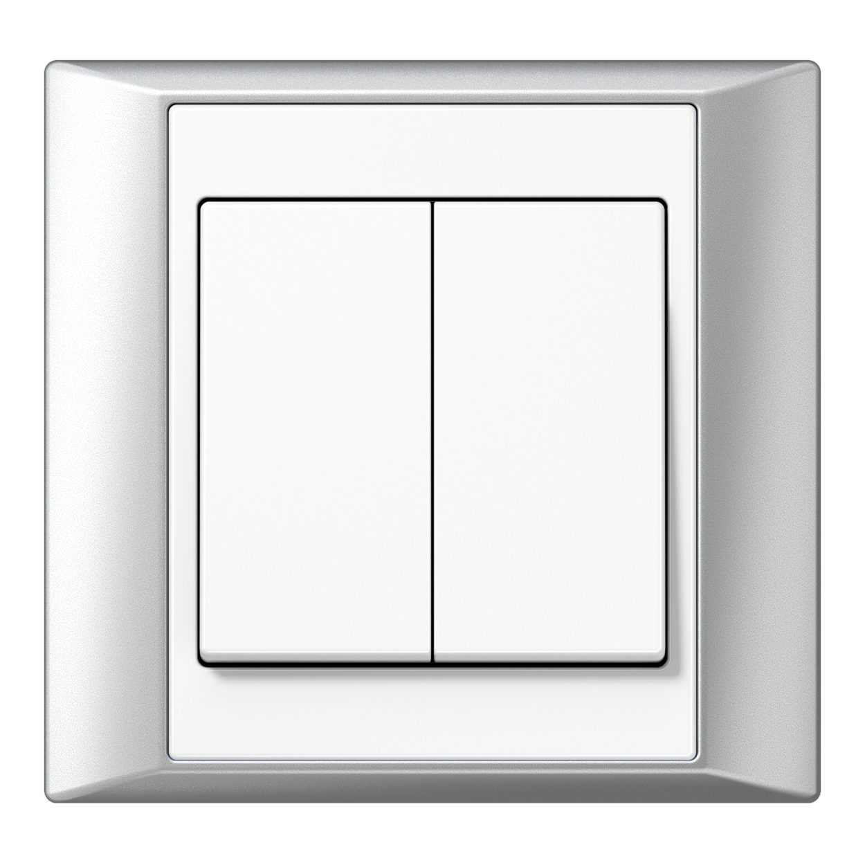 JUNG_Aplus_aluminium_white_2-gang-switch