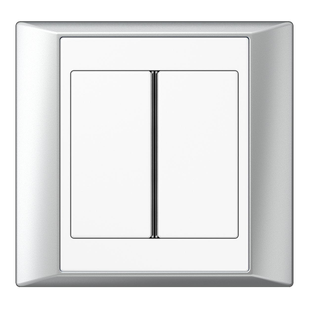 JUNG_Aplus_aluminium_white_2button