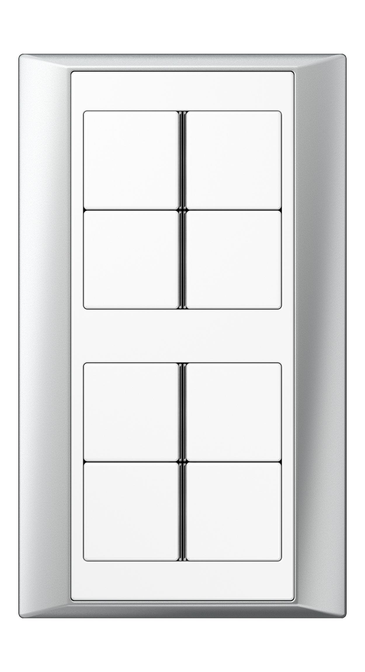JUNG_Aplus_aluminium_white_8button