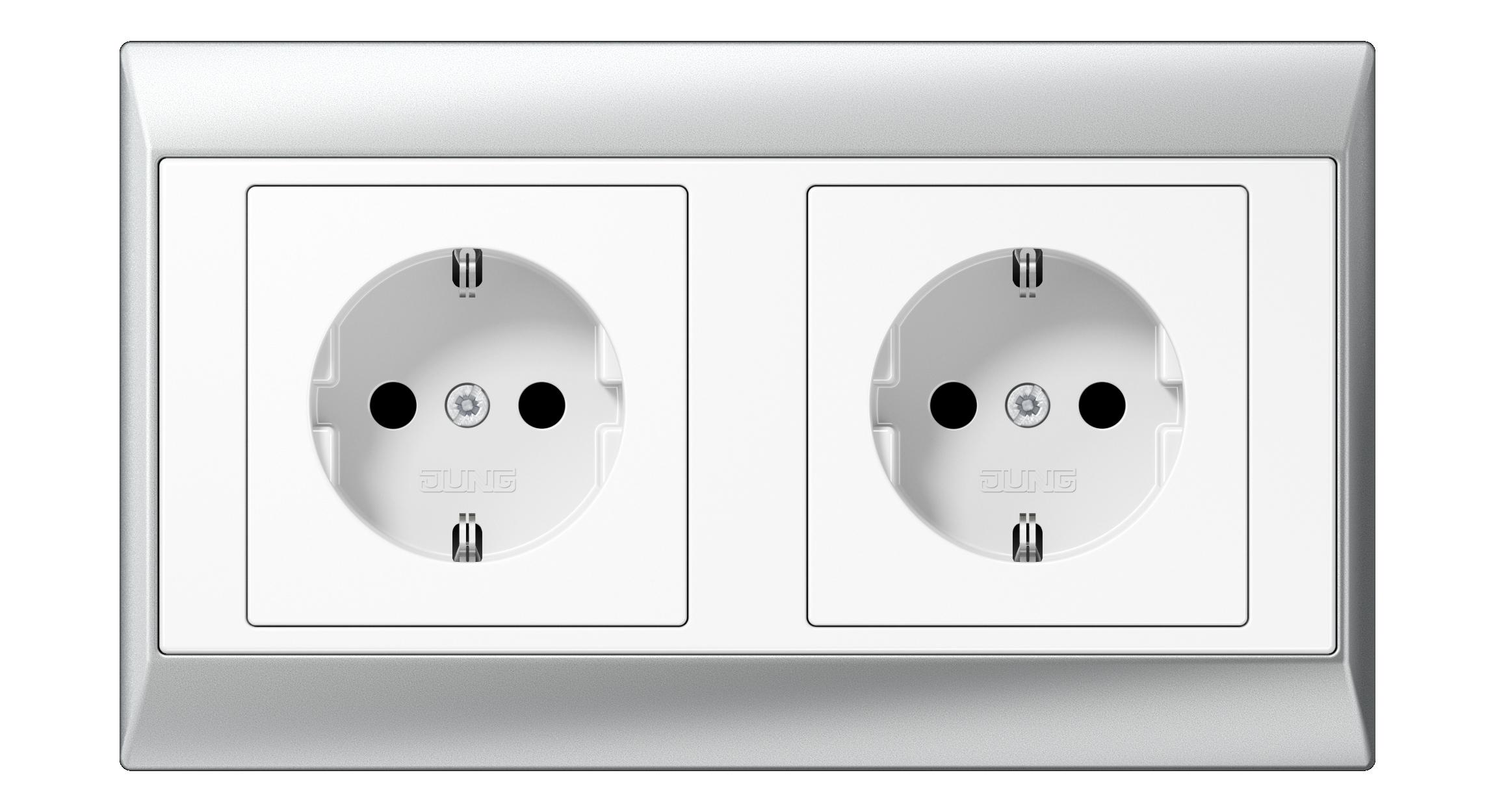 JUNG_Aplus_aluminium_white_socket-socket_H