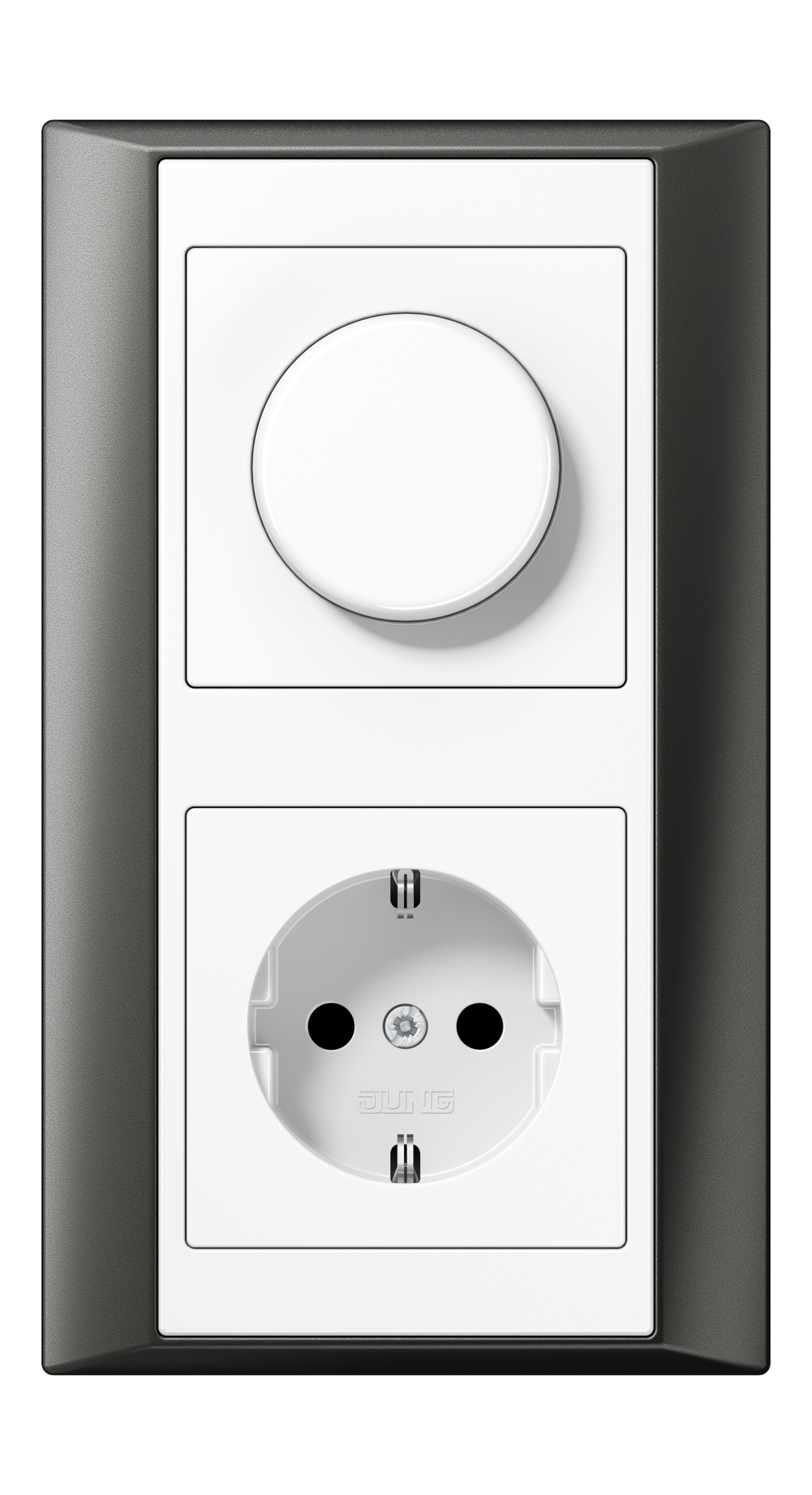 JUNG_Aplus_anthracite_white_dimmer-socket
