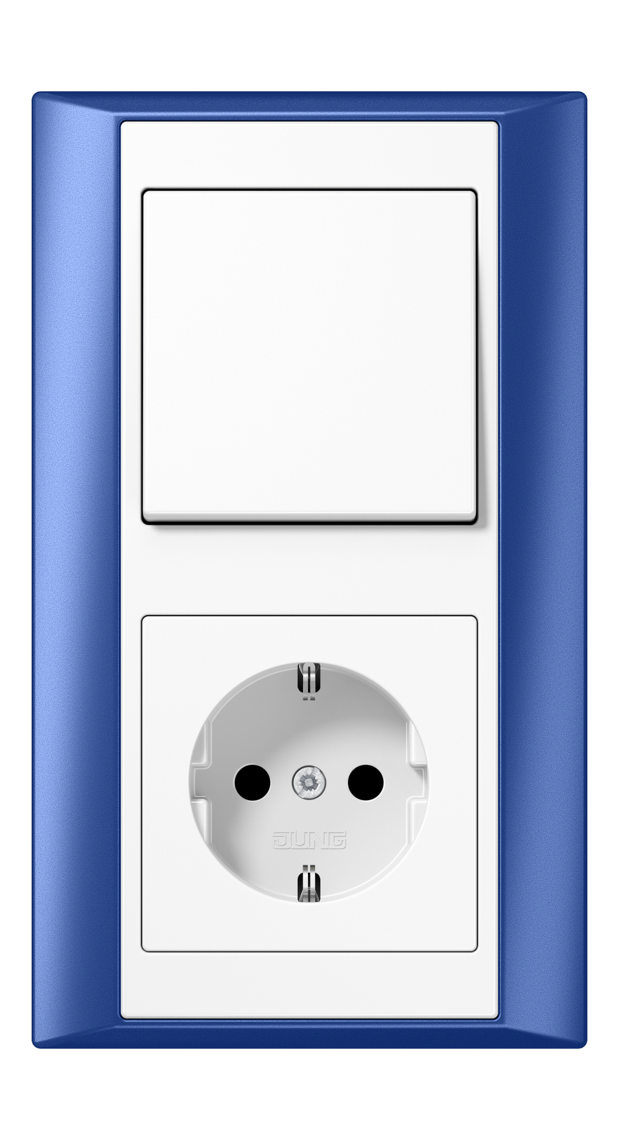JUNG_Aplus_blue_white_switch-socket