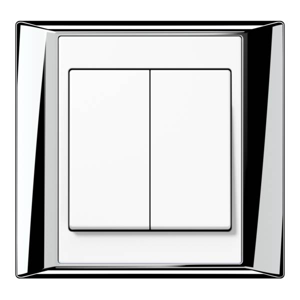 JUNG_APlus_chrome_white_2-gang-switch
