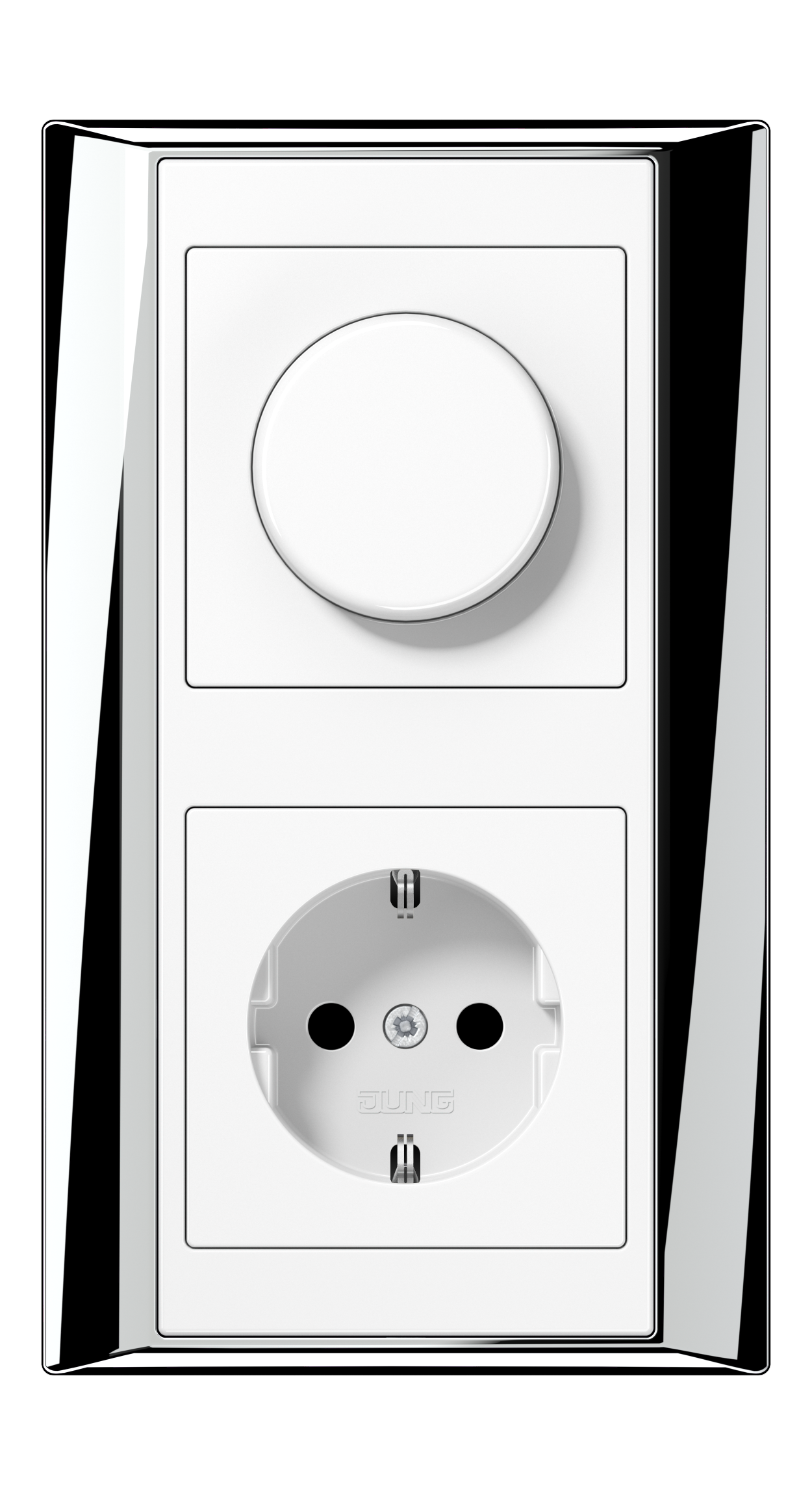 JUNG_APlus_chrome_white_dimmer-socket