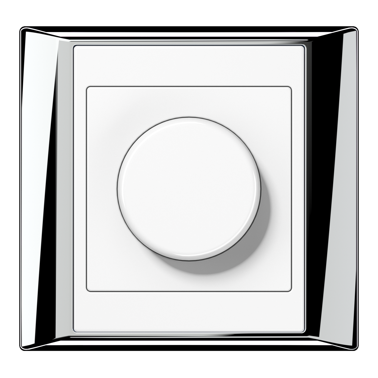 JUNG_APlus_chrome_white_dimmer
