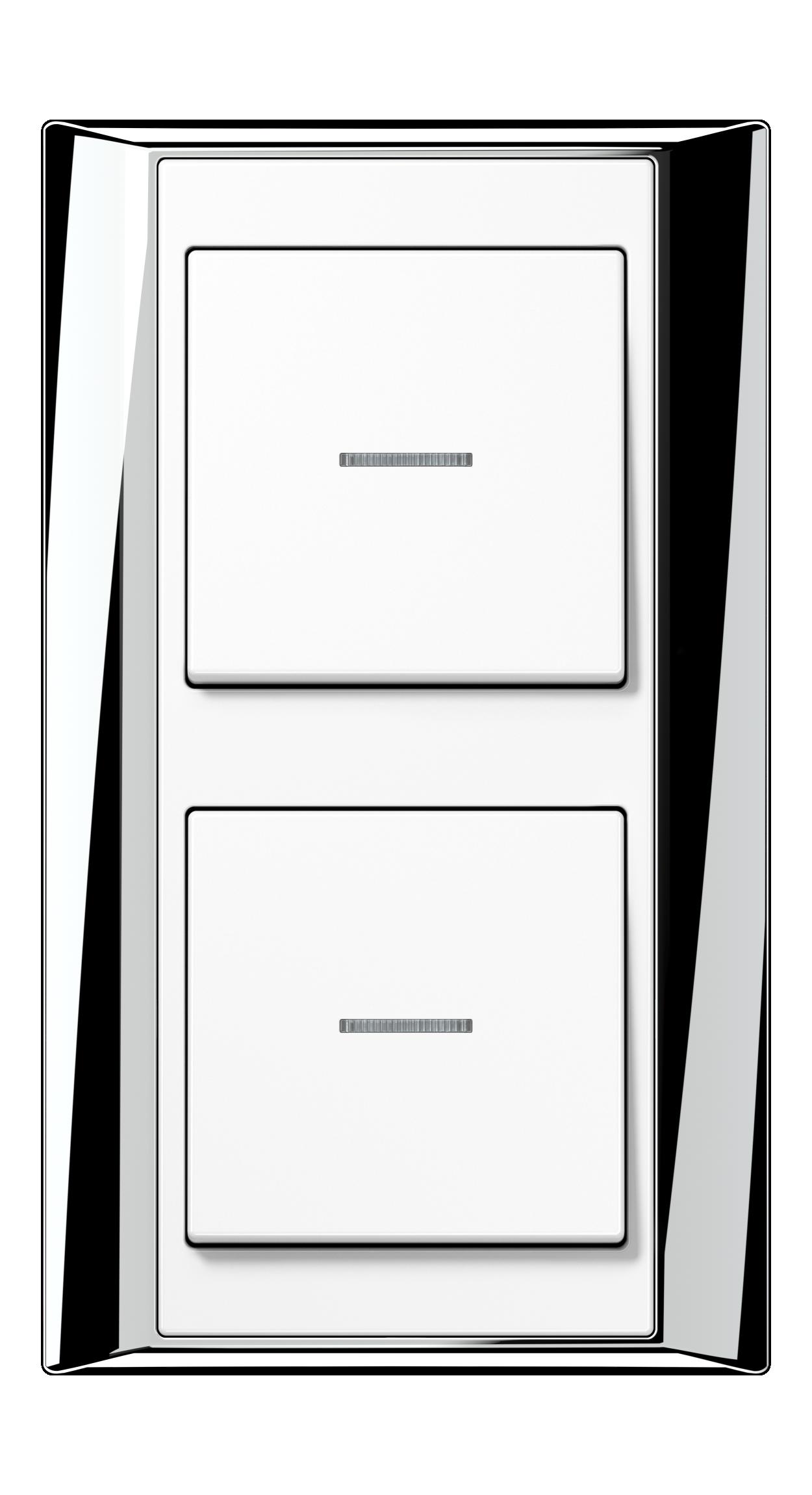 JUNG_APlus_chrome_white_switch-lense_switch-lense