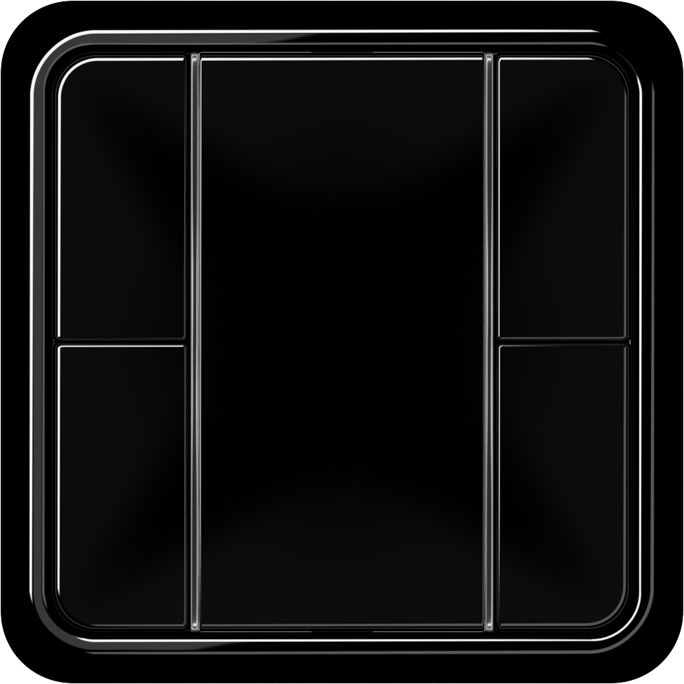 JUNG_CD500_black_coloured_F50_2-gang