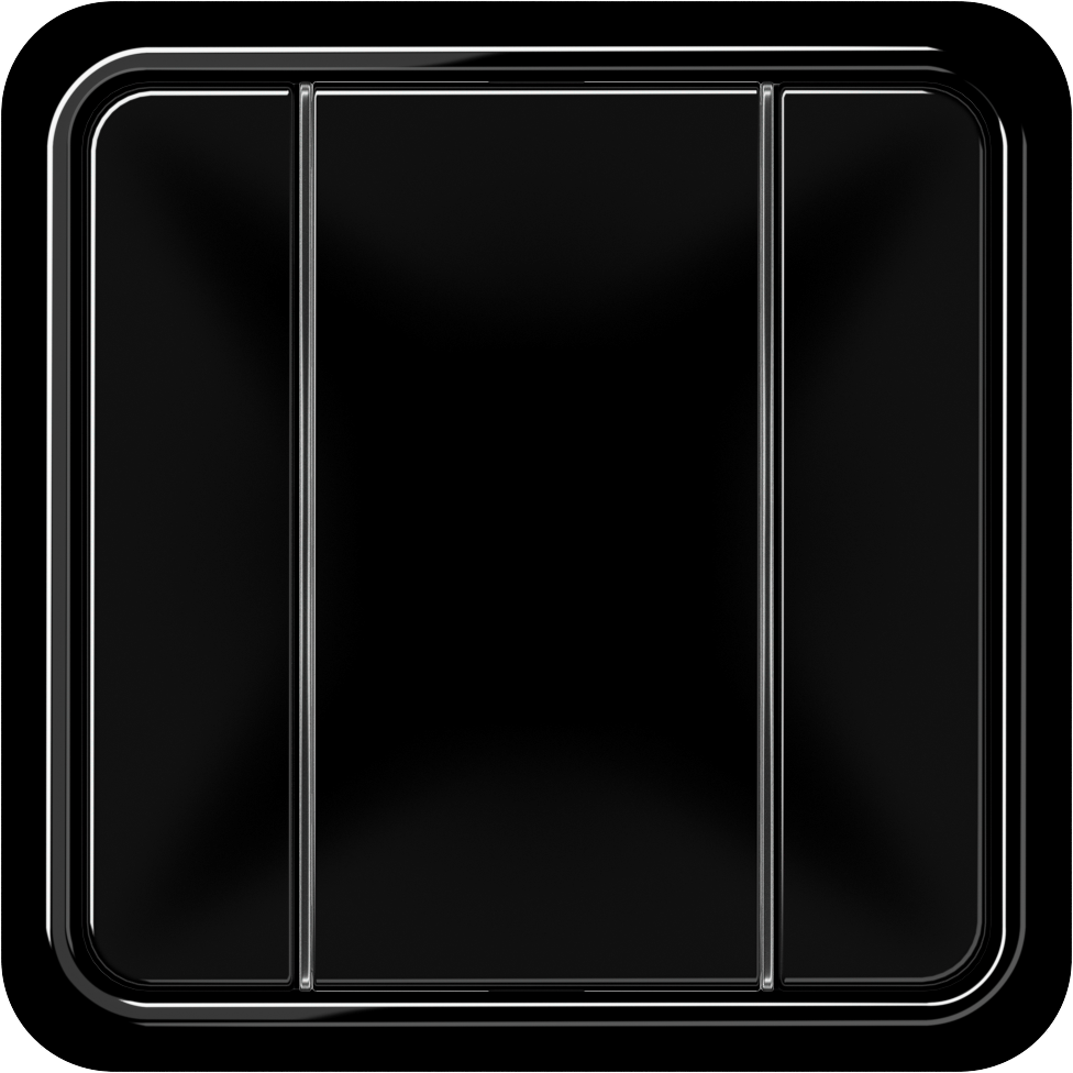 JUNG_CD500_black_coloured_F50_3-gang