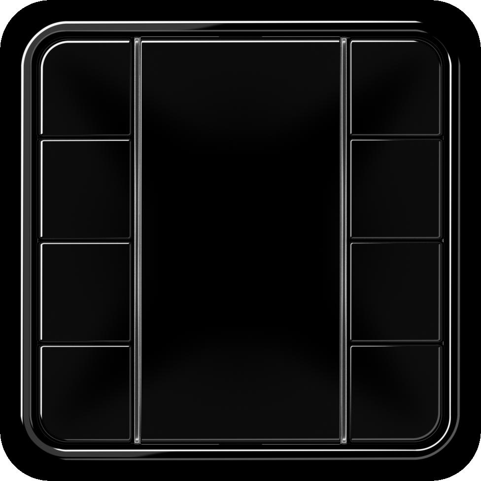 JUNG_CD500_black_coloured_F50_4-gang