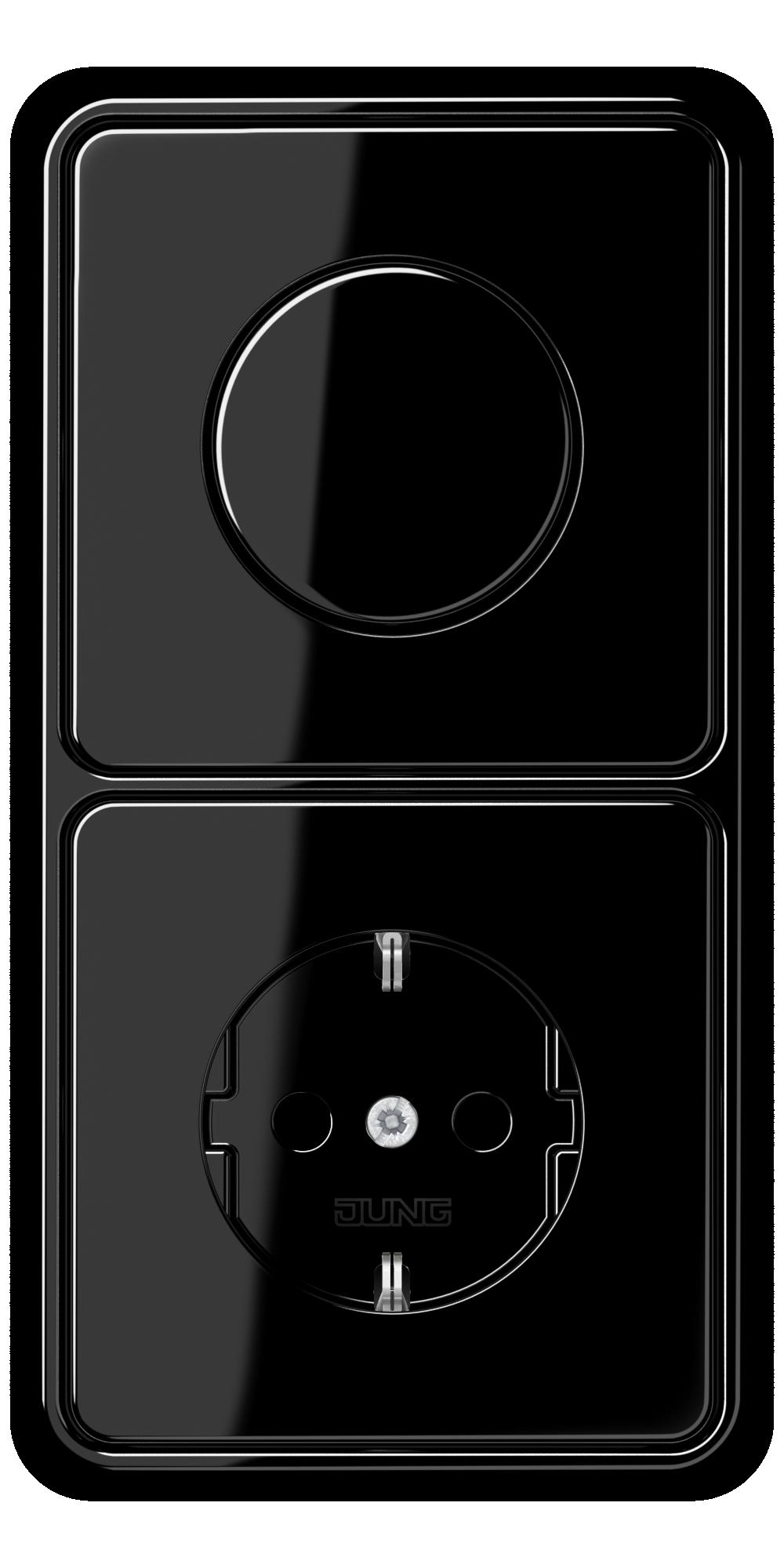 JUNG_CD500_black_dimmer-socket