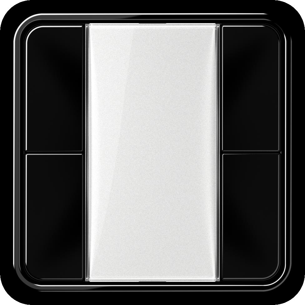 JUNG_CD500_black_transparent_F50_2-gang