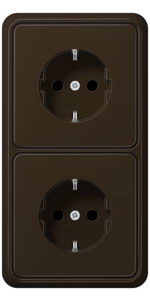 JUNG_CD500_brown_socket-socket