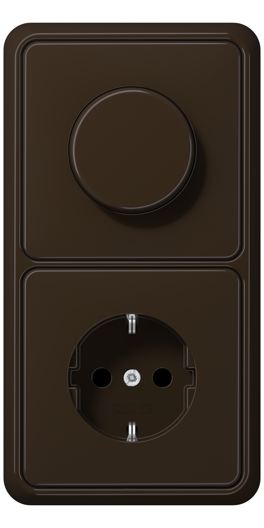 JUNG_CD500_brown_dimmer-socket