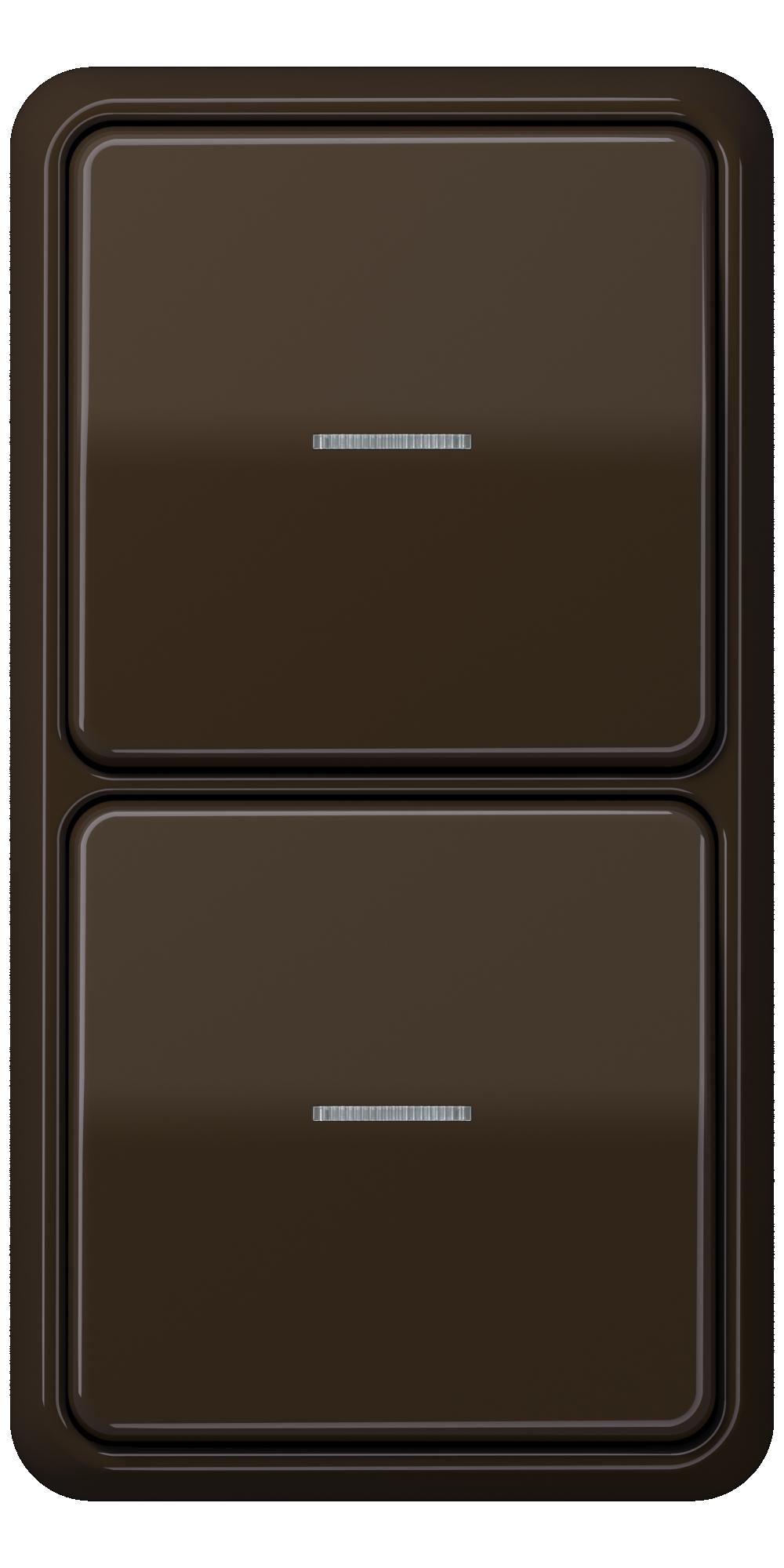 JUNG_CD500_brown_switch-lense_switch-lense
