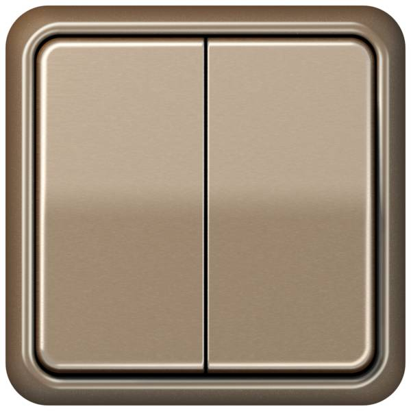 JUNG_CD500_gold-bronze_2-gang-switch