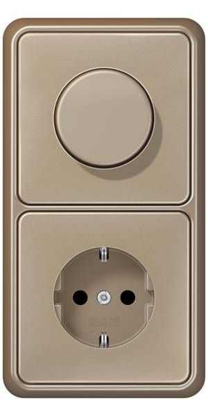 JUNG_CD500_gold-bronze_dimmer-socket