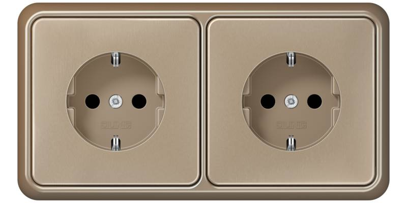 JUNG_CD500_gold-bronze_socket-socket_H
