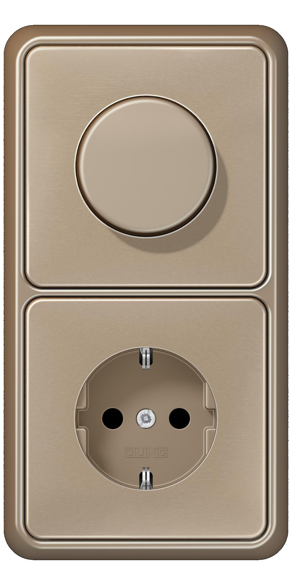 JUNG_CD500_gold-bronze_dimmer-socket