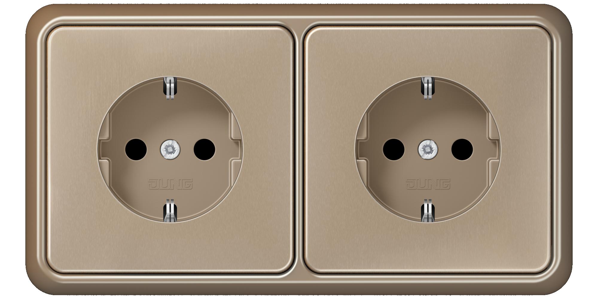 JUNG_CD500_gold-bronze_socket-socket_H