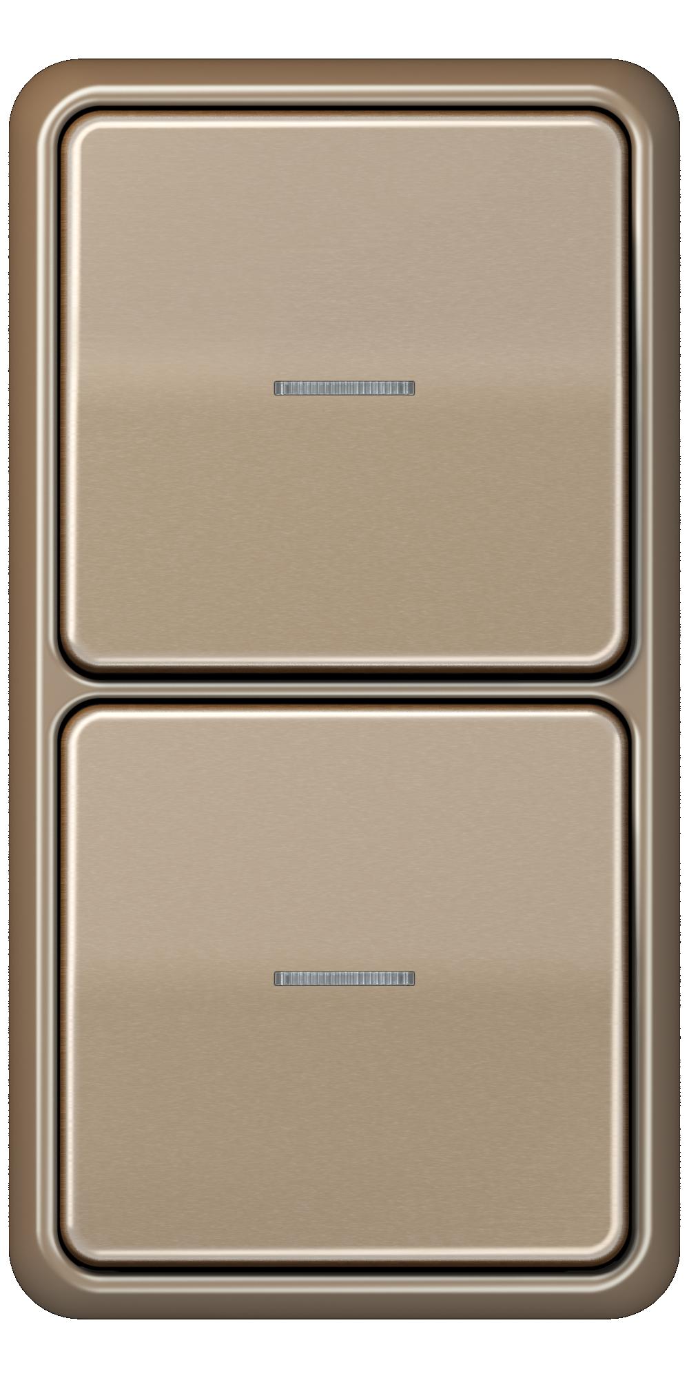 JUNG_CD500_gold-bronze_switch-lense_switch-lense