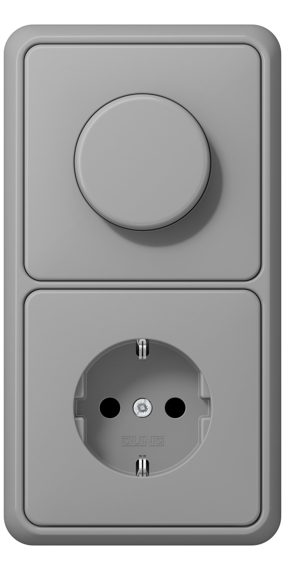 JUNG_CD500_grey_dimmer-socket