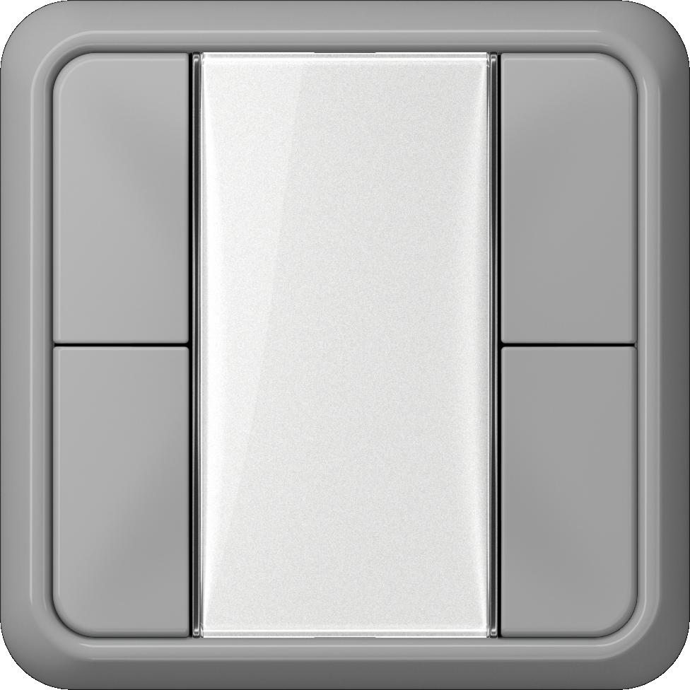JUNG_CD500_grey_transparent_F50_2-gang