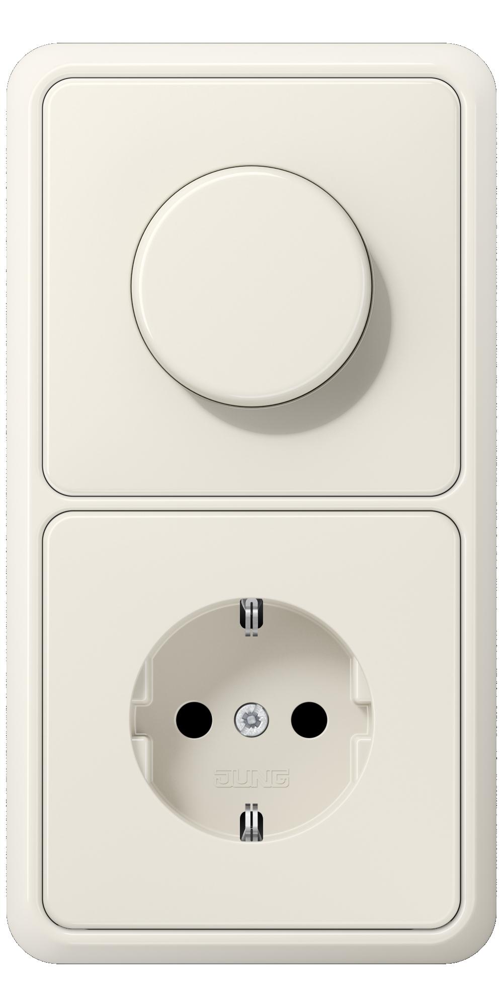 JUNG_CD500_ivory_dimmer-socket