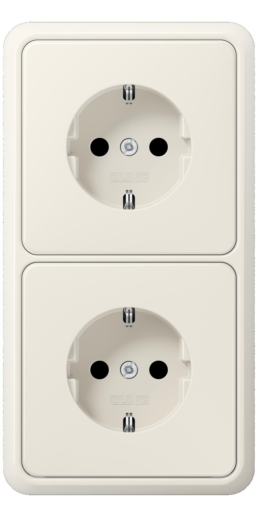 JUNG_CD500_ivory_socket-socket