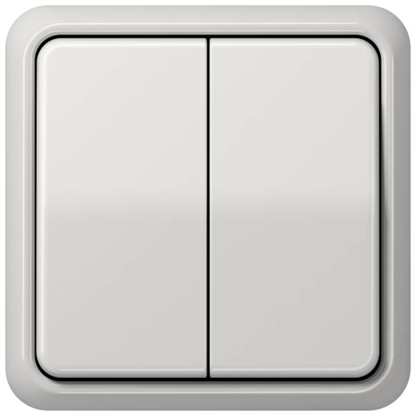 JUNG_CD500_light-grey_2-gang-switch