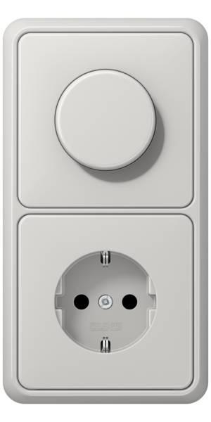 JUNG_CD500_light-grey_dimmer-socket
