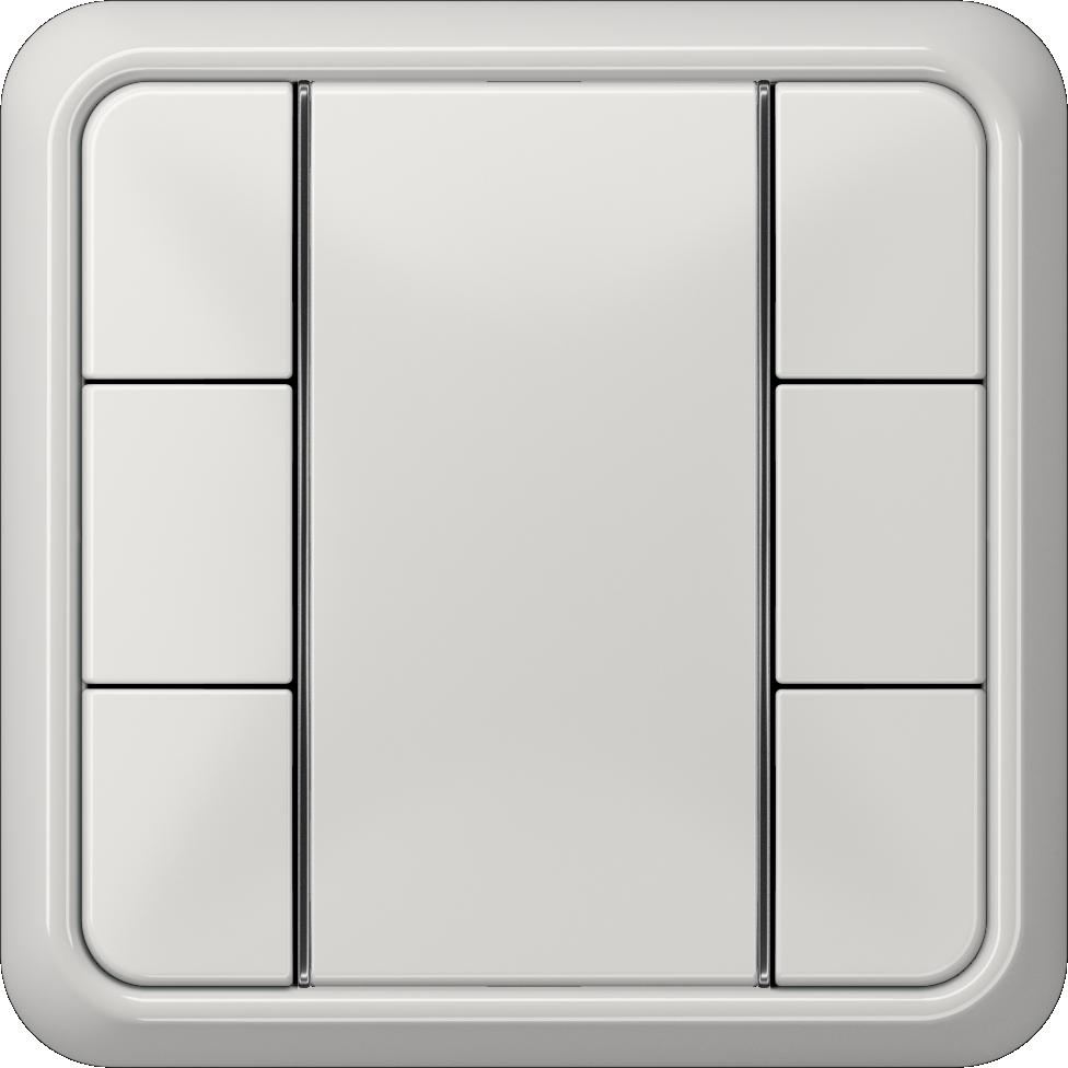 JUNG_CD500_light-grey_coloured_F50_3-gang