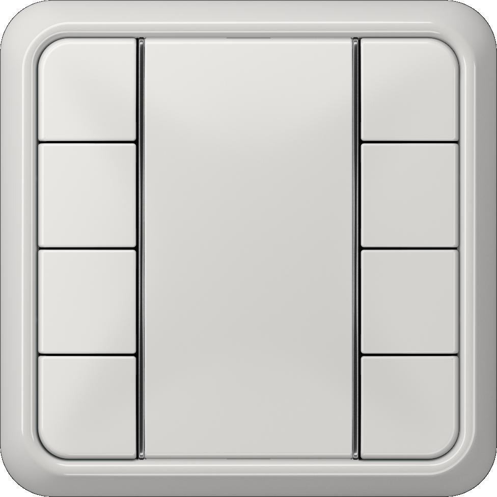 JUNG_CD500_light-grey_coloured_F50_4-gang