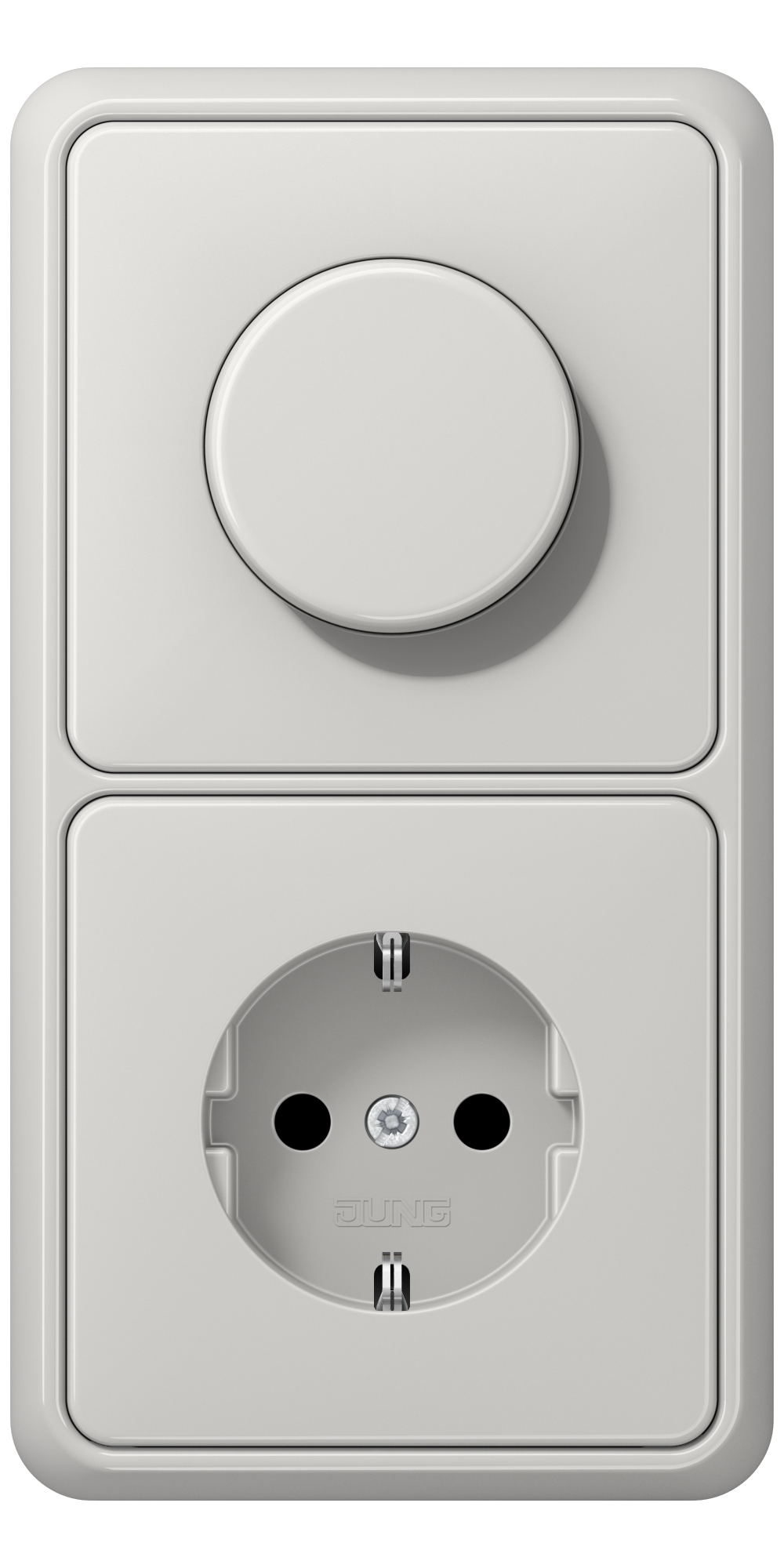 JUNG_CD500_light-grey_dimmer-socket