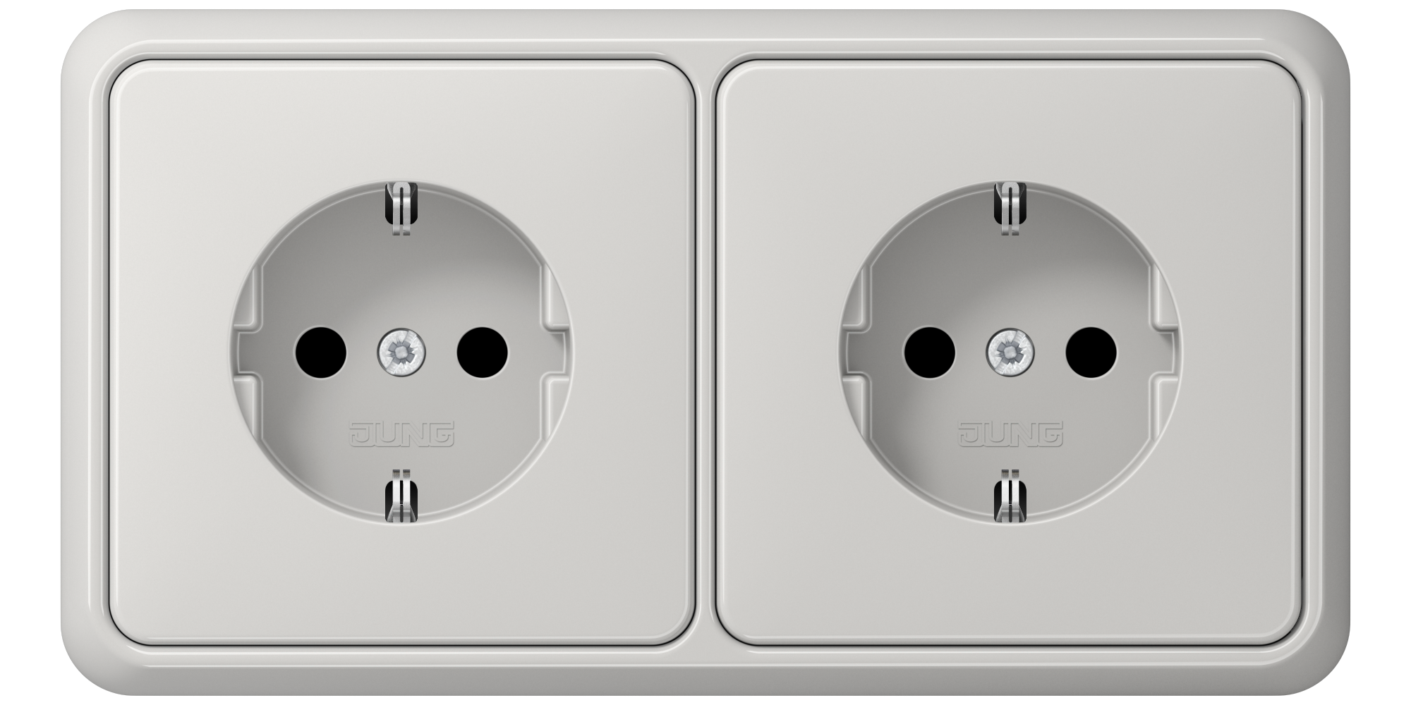 JUNG_CD500_light-grey_socket-socket_H
