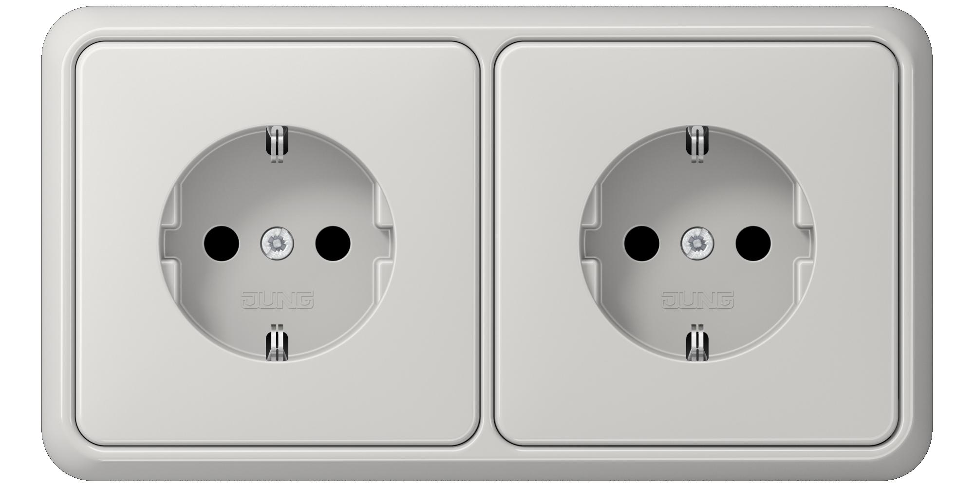 JUNG_CD500_light-grey_socket-socket_H