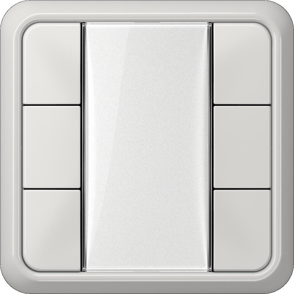 JUNG_CD500_light-grey_transparent_F50_3-gang