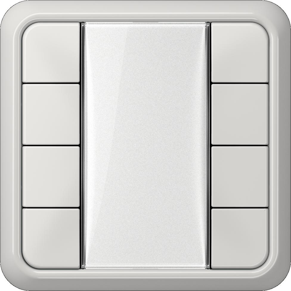 JUNG_CD500_light-grey_transparent_F50_4-gang