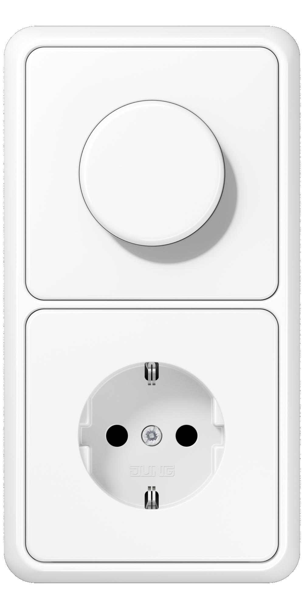 JUNG_CD500_white_dimmer-socket