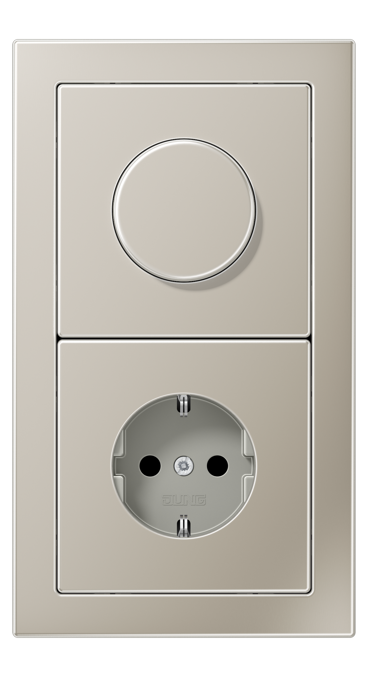 JUNG_LS_Design_stainless_steel_dimmer-socket