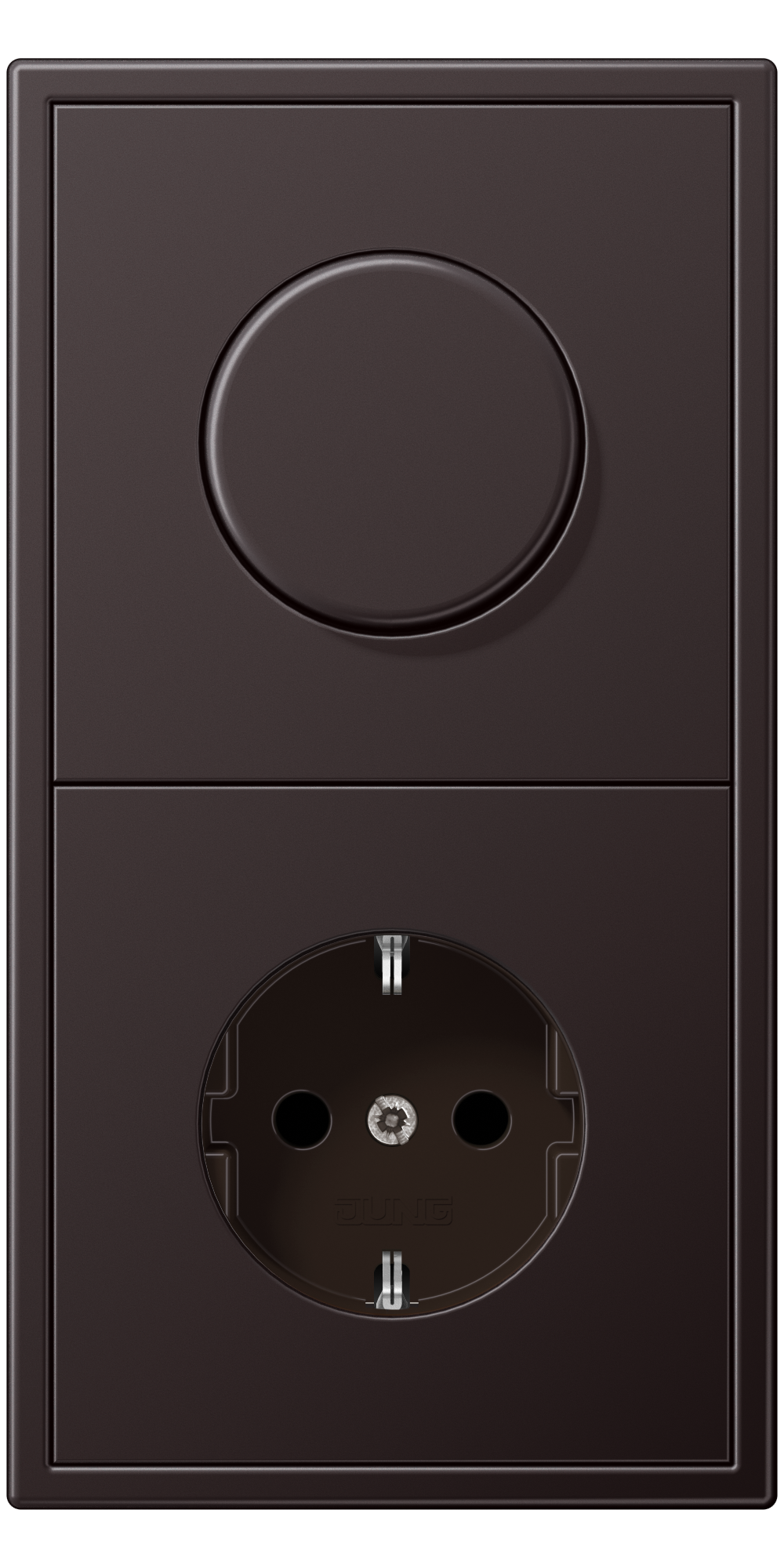 JUNG_LS990_aluminium-dark_dimmer-socket