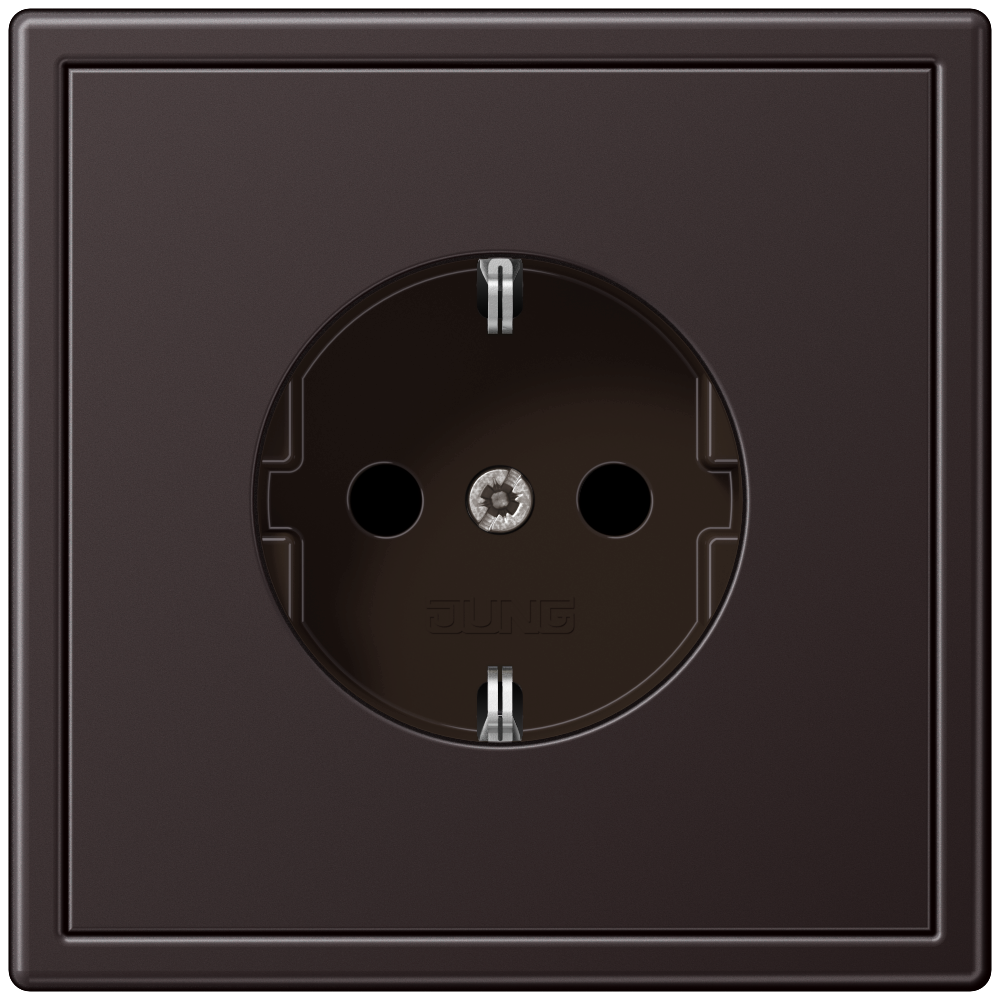 JUNG_LS990_aluminium-dark_socket