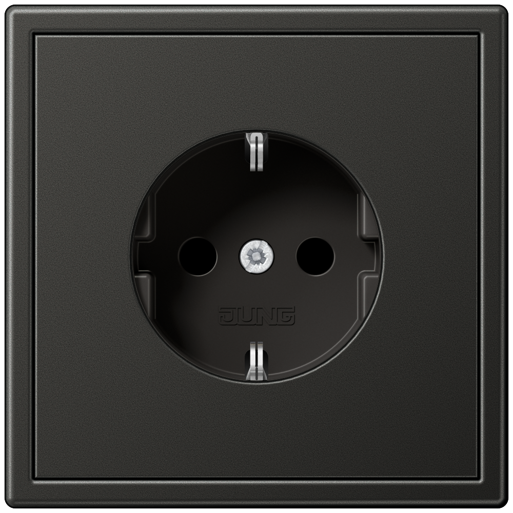 JUNG_LS990_anthracite_socket