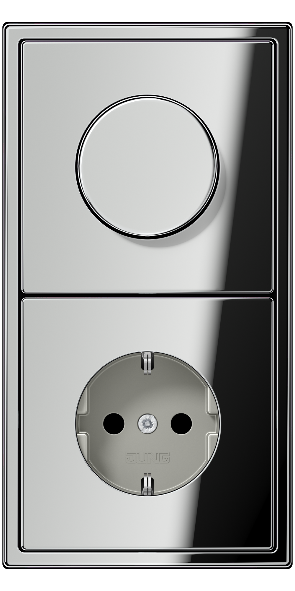 JUNG_LS990_chrome_dimmer-socket